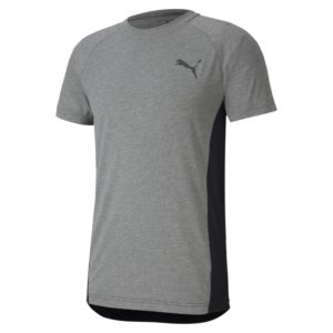 PUMA EVOSTRIPE Tee-Medium Gray Heather